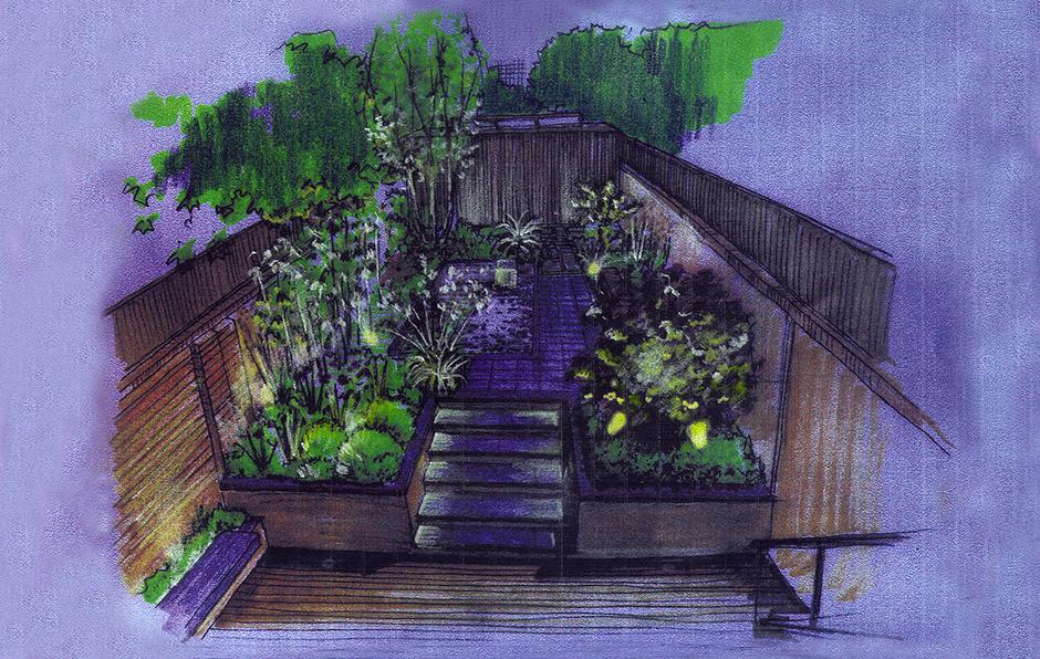 City Calm Night sketch