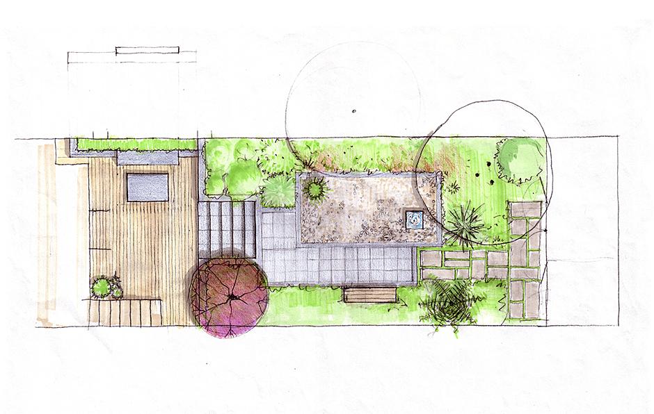 City Calm Sketch plan