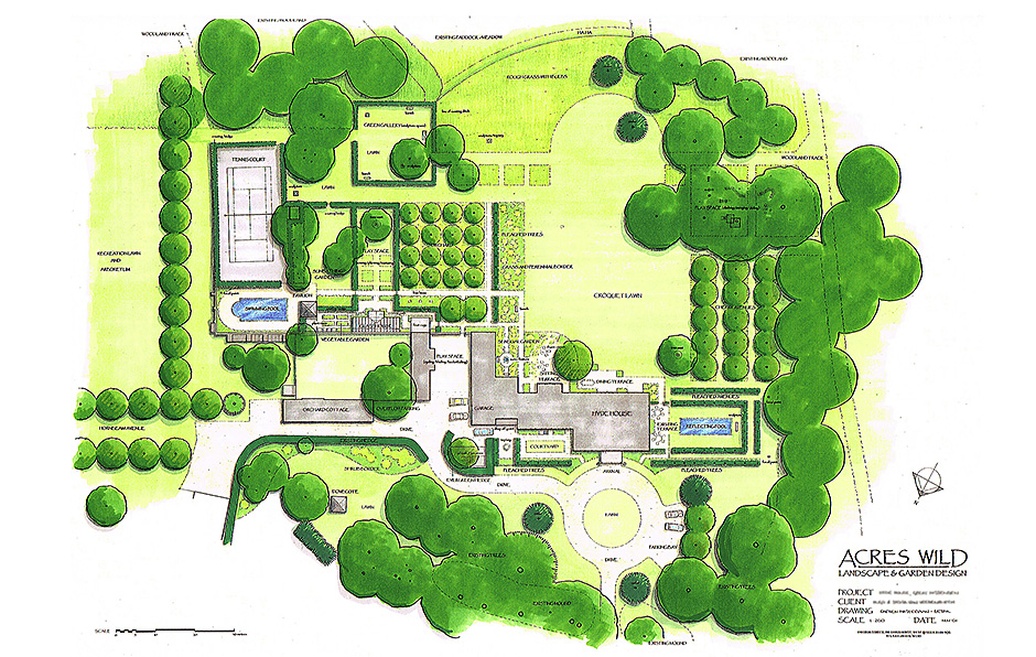 Garden Design Plan Masterplan