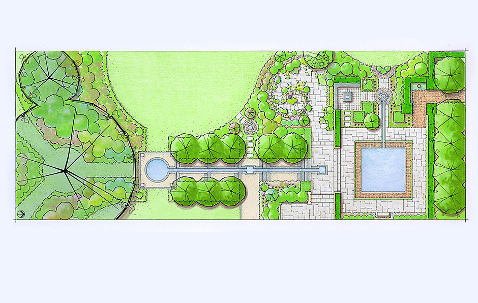 Cool and Composed Garden Plan