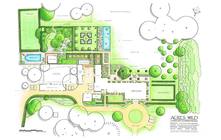 Georgian Grandeur Garden masterplan-Detail