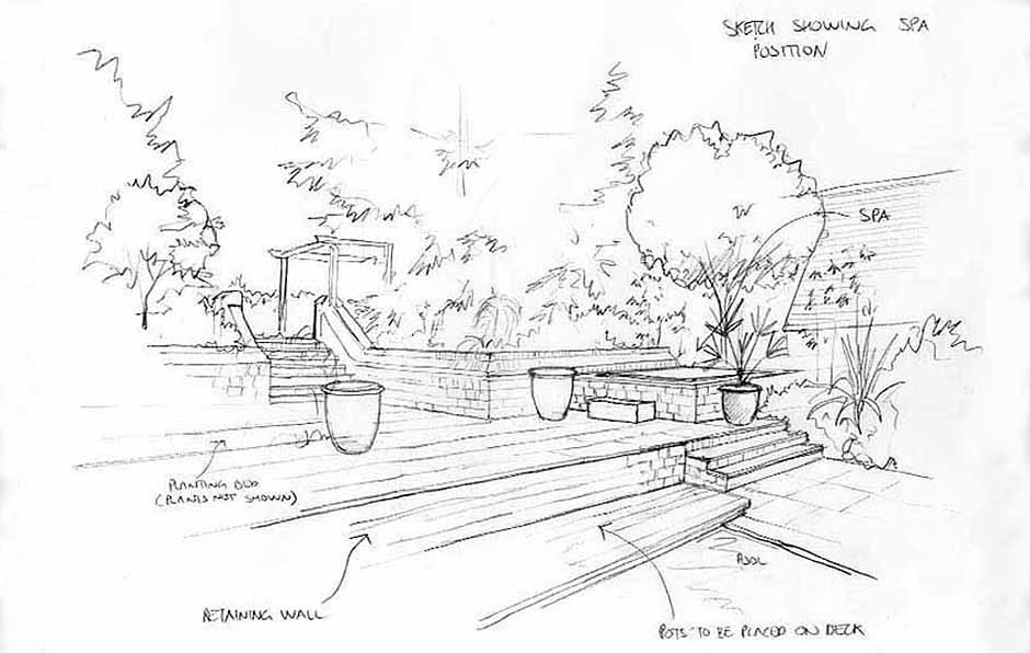 Traditional Terraces Spa sketch