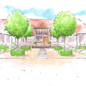 Views and Vistas Courtyard sketch