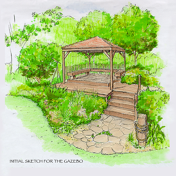 Wild and Windswept Fernyhough gazebo sketch