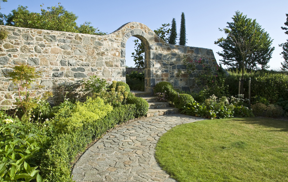 Acres Wild Guernsey Garden Stone Arch