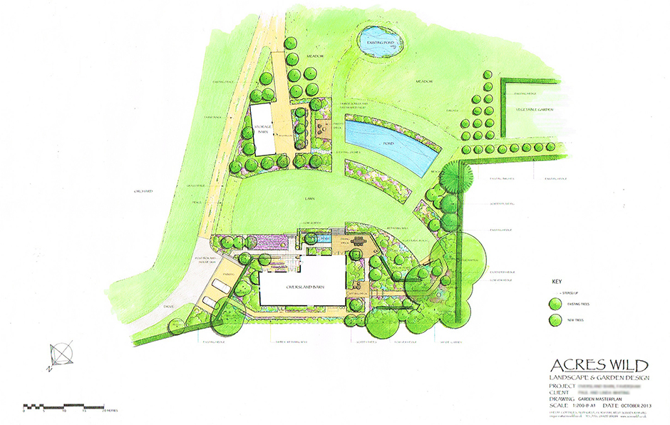 Acres Wild Lines in the landscape Masterplan