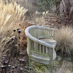 Acres Wild Artfully Accessible Seating in Winter