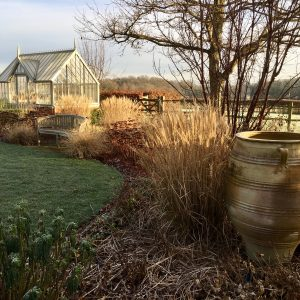Acres Wild Artfully Accessible Urn in Winter Planting