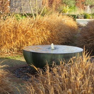 Acres Wild Artfully Accessible Water Feature in Autumn