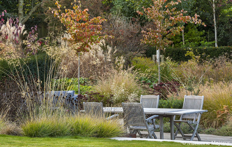 Acres Wild Lines in the Landscape Seating within Planting