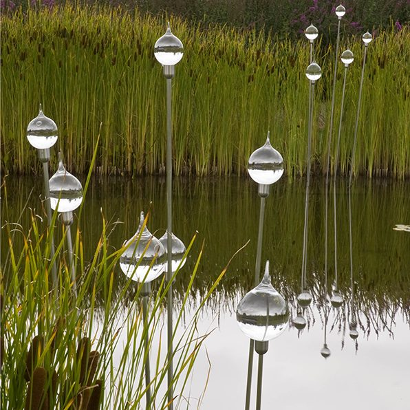 Acres Wild Views and Vistas Glass ball sculpture